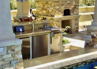 Natural Stone Poolside Patio