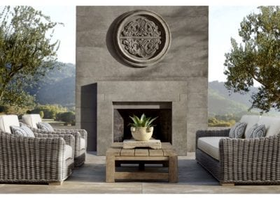 Natural Stone Outdoor Fireplace and Patio Pavers