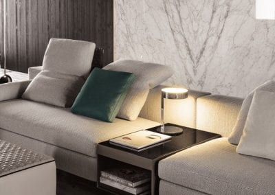 Marble Wall in Living Room Area