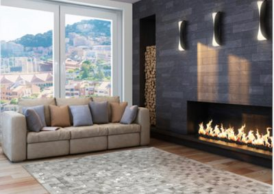 Tile and Fireplace